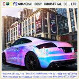 광택 있는 색깔 Chorme 변화 필름, 기포를 가진 비닐 차 포장 스티커 자유롭게