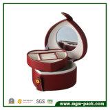 Оптовая коробка хранения ювелирных изделий кожи способа с зеркалом