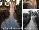 Vestito da cerimonia nuziale lungo della sirena di Berta dei manicotti dell'abito nuziale del merletto (C2166)