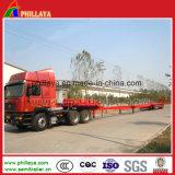 45m 3essieux moulin à vent de la direction des lames de camion de transport semi-remorque basse lit extensible