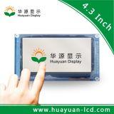 4.3 módulo de la pantalla del panel de visualización de la pulgada TFT LCD