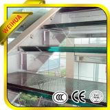 Vidro laminado temperado para banheiro/Corrimão da escada empurrador/Varanda/Marquise do Prédio