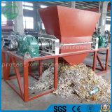 Défibreur de deux arbres pour la mitraille/le plastique de pneu/pneu/ordures en bois de mousse/cuisine/déchets du bois/solides