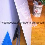 Panneau lisse de nid d'abeilles de Prelaminated pp de fibre de verre pour le mur