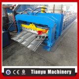 Rodillo esmaltado galvanizado metal acanalado automático lleno de la azotea de azulejo que forma la máquina