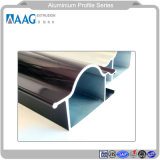 Profilo di alluminio dell'espulsione per il profilo di cristallo di elettroforesi della superficie di elettroforesi per sistema del portello dell'alluminio e della finestra di alluminio e della parete divisoria