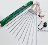 5050/72/80cm 크리스마스 휴일 방수 LED 유성 관 빛