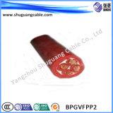 (BPGVFPP2) de borracha de silicone/Acylonitrile-Butadiene/Cu/Cu fio blindado de Fita/frequência/Alta Temperatura Convertible/cabo de alimentação eléctrica