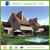 Casa de aço clara Prefab luxuosa pré-fabricada da casa de campo das férias