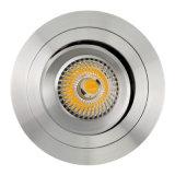 La lumière enfoncée par inclinaison ronde de l'aluminium GU10 MR16 DEL de tour vers le bas (LT2304B)