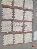 Mosaico di marmo beige per la decorazione domestica, mattonelle di pietra