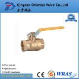 Media del agua y pulgada de cobre amarillo de la vávula de bola de la presión de la presión inferior 1-1/4