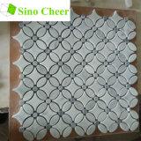 Pietra materiale del mosaico delle mattonelle della pavimentazione di marmo bianca di pietra naturale dei mosaici