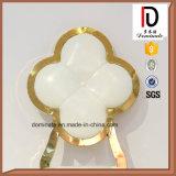 Présidence en cuir blanche de Rose d'or de bâti élégant d'acier inoxydable pour la salle à manger