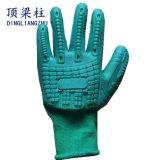 18gスパンデックスはセリウムが付いている耐衝撃性TPRの安全手袋を反切った