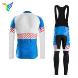 Cremallera Ykk profesional personalizada China Long Sleeve Cycling Jersey Fleece