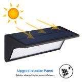 La luz del sensor de movimiento Solar 800lm 46 LEDs de la seguridad inalámbrica de la luz de jardín al aire libre con 4 modos de iluminación inteligente