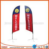 Custom Teardrop de impresión sencilla o doble bandera en la playa