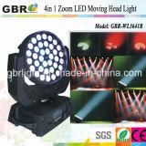 Éclairage principal mobile chaud d'étape de la lumière de lavage de l'étape DEL du zoom 36X10W/DEL