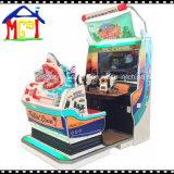 La máquina de juego de interior de arcada del coche de competición 3D de fichas supera