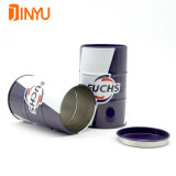 Cmyk Printing Oil Drum Shape Tin Can for Perfume Packaging