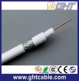 75 옴 0.81mm CCS White PVC Coaxial Cable RG6