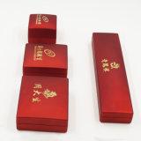 Kippen-Spitzenmaschinenhälften-kundenspezifische Plastikschmucksache-gesetzter Kasten (J55-E)