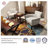 Hotel Furnture for Living room Room with Wooden Lounge Flesh (6340)