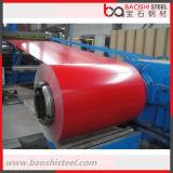 Matériaux de construction PPGI couvrant la tôle d'acier dans la bobine