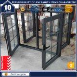 Venster het Van uitstekende kwaliteit van het Glas van de Gordijnstof van het Aluminium van Grandshine