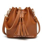 Form PU-lederne Handtasche Buket Handtasche mit Troddel