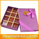 Boîte de chocolat à l'emballage imprimé (FLO-go543)