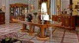 0038-2ヨーロッパの新古典主義デザイン手はホーム家具の木のダイニングテーブルを懇願する