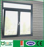 Finestra di alluminio di girata e di inclinazione con la vetratura doppia