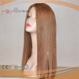 De Europese Hoogste Pruik van de Zijde van de Grens van de Blonde Pu van het Haar (pPG-l-0424)