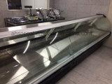 Levantar-acima o refrigerador do indicador do supermercado fino das portas, caixa de indicador Refrigerated para lojas