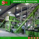 Migalha de borracha de alta qualidade que faz a linha que Shredding e que recicl o desperdício/sucata/pneus usados