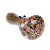 Tubo de cristal de la cuchara del tubo de agua del tubo de la ágata del color del tabaco del tubo de cristal de cristal de cristal de la mano