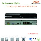 8CH H264 5MP cámara IP P2p de Poe a distancia Kits de NVR