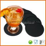 Conjunto del práctico de costa de cristal de la bebida de la taza del silicón redondo 8
