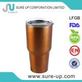 Bouteille d'eau profonde de tasse de mur de double d'acier inoxydable de couleur (MSAT)