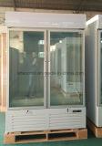 Коммерчески двойной стеклянный замораживатель индикации двери с регулируемым Shelving 10PCS