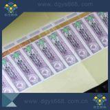 De Stickers van de Kleur van de Regenboog van de Laser van het Hologram van de Druk van de douane