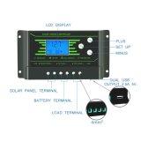 Contrôleur Neuf-PWM Z30 de charge de la batterie de panneau solaire de contre-jour de 30AMP 12V/24V
