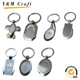 Rundes Metallfördernde gedruckte Sublimation Keychain (YM008)