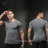Оптовая продажа тенниски 2017 изготовленный на заказ людей печатание цифров рубашек спорта втулки полиэфира