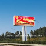 Афиша Unipole водоустойчивая напольная СИД индикации экрана цифров Rbg рекламируя средств пиксела P10/P16