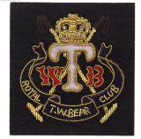 Emblema bordado feito à mão para a jaqueta com rosca de Ouro