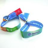 Bracelets faits sur commande d'IDENTIFICATION RF de tissu de bracelet de festival pour des événements