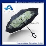 De promotie Dubbele Automatische Omgekeerde Paraplu Omgekeerde Paraplu van de Laag
